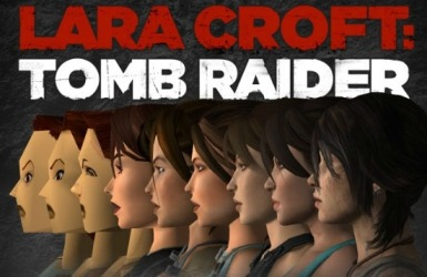 Lara Croft's faces
