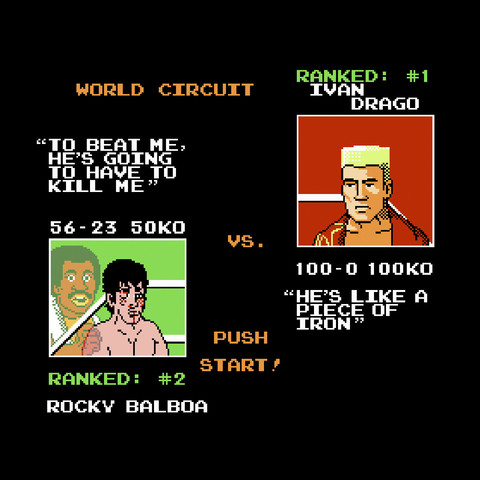 Rocky IV (1985) as Punch-Out!! (1987)